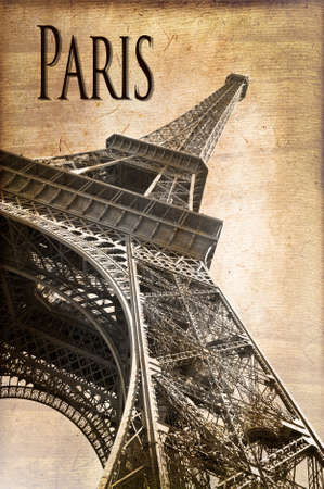 towers: Eiffel Tower, Paris, vintage style