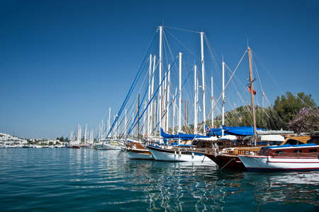 dodecanese: Sailboats in the harbor of Kos, Dodecanese island, Greece