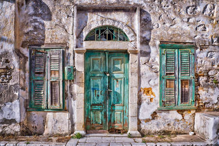 dodecanese: Old house, Symi, Dodecanese island, Greece Stock Photo
