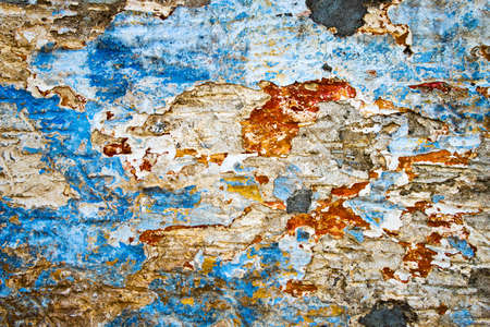 wall paint: Peeling paint on a wall, Greece