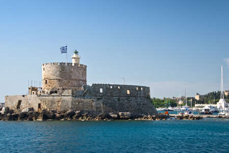 dodecanese: Fort Saint Nicholas, harbour of Rhodes, Dodecanese, Greece
