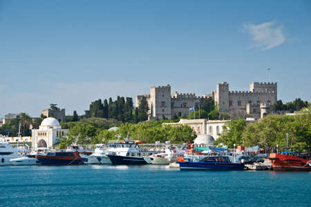 dodecanese: The harbour of Rhodes, Dodecanese, Greece Editorial