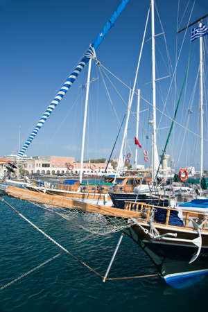 galley: Galley in the harbour of Rhodes, Dodecanese, Greece