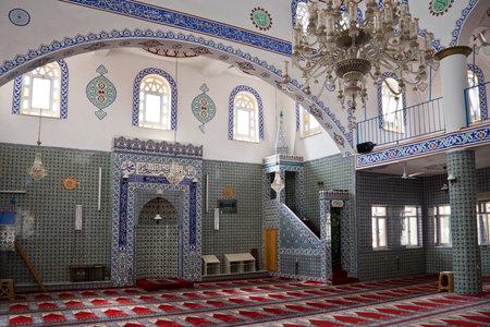 indoor inside: Interior of a mosque in Turkey