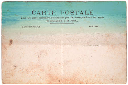 Vintage postcard, beach background