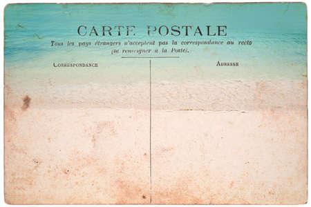 Vintage postcard, strand achtergrond