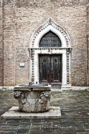 well: Well on a campo in Venice, Italy Stock Photo