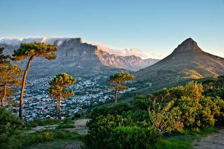 cape town: Signal Hill, Cape Town, South Africa Stock Photo