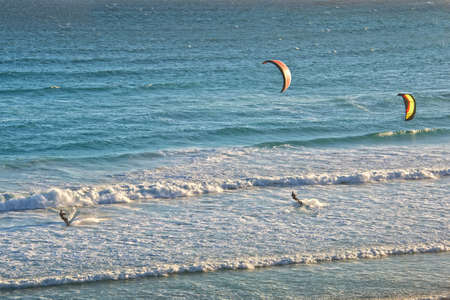 cape of good hope: Kite surf, Cape of Good Hope, South Africa Stock Photo