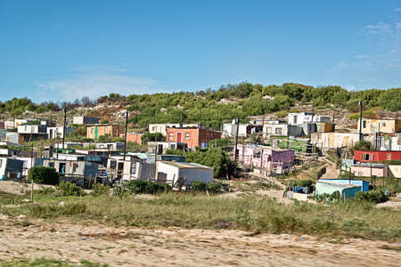 poor: Township near Cape Town, South Africa