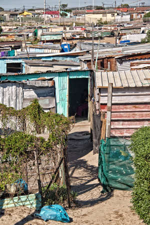 shantytown: Township near Cape Town, South Africa