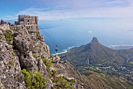 Uitzicht vanaf de Tafelberg, Cape Town, Zuid-Afrika