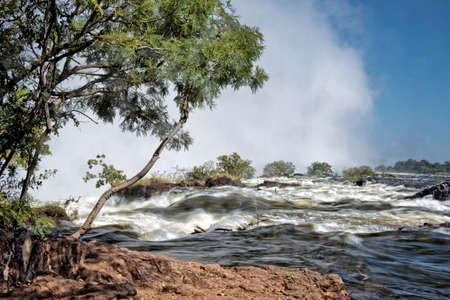 upstream: Victoria falls upstream, Zambia