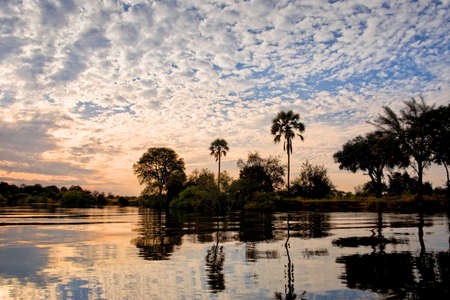 zambezi: The Zambeze river at sunset, Zambia