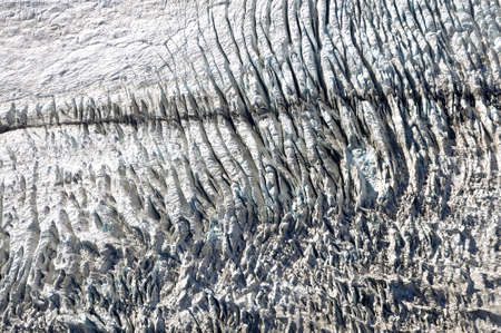 fox glacier: Fox glacier, New Zealand, aerial photography Stock Photo