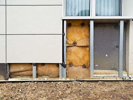 building external: External insulation of a building Stock Photo