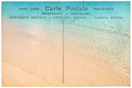 postcard: Postal de la vendimia, fondo de playa