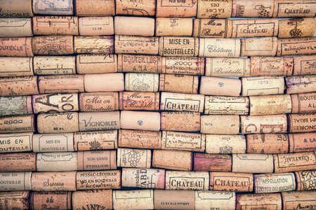 ワインのコルク栓の背景