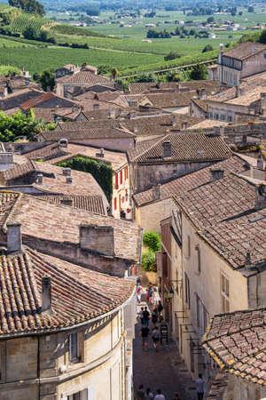 saint emilion: Village of Saint Emilion, Bordeaux, France Stock Photo