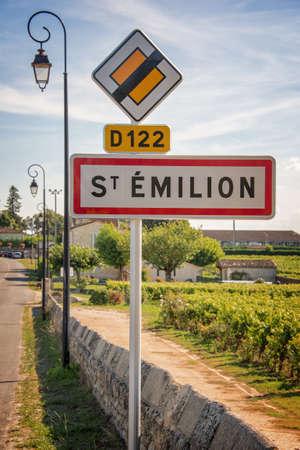 saint emilion: Saint Emilion roadsign, Bordeaux, France