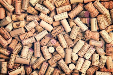 wine background: Wine corks background