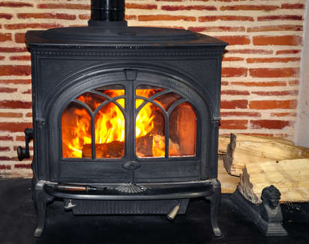stove: Wood burning stove