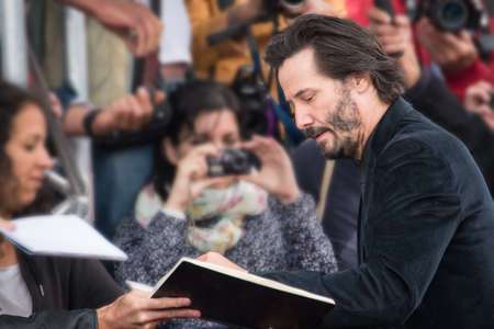 knock: Actor Keanu Reeves attends the Knock Knock Premiere during the 41st Deauville American Film Festival, on September5, 2015 in Deauville, France