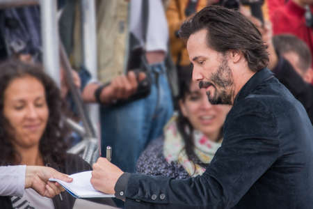 Actor Keanu Reeves attends the Knock Knock Premiere during the 41st Deauville American Film Festival, on September5, 2015 in Deauville, France