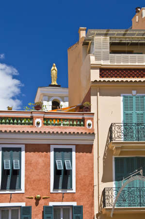 principality: A street in the old town of the Monaco principality, french riviera