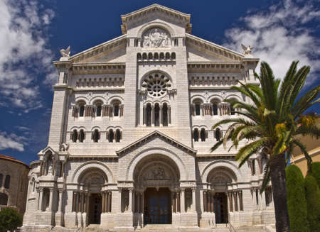 riviera: Cathedral Notre Dame, Monaco principality, french riviera