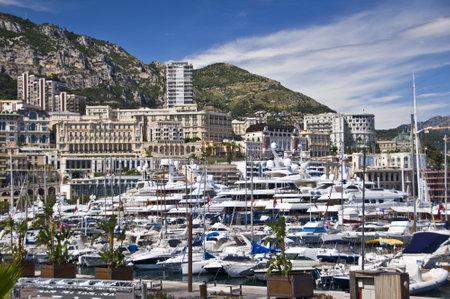 monte: Harbour of Monte Carlo, Monaco principality, french riviera