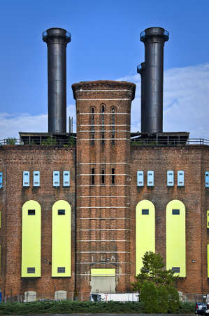 industry architecture: Old vintage factory, Jersey city, USA