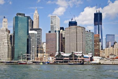 newyork: New York  skyline with the construction of One World TRade Center,  New York City, USA