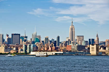 empire state building: New York skyline with the Empire State Building, New York City, USA