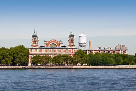 history building: Ellis island, New York City, USA Editorial