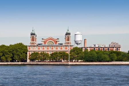 newyork: Ellis island, New York City, USA Editorial