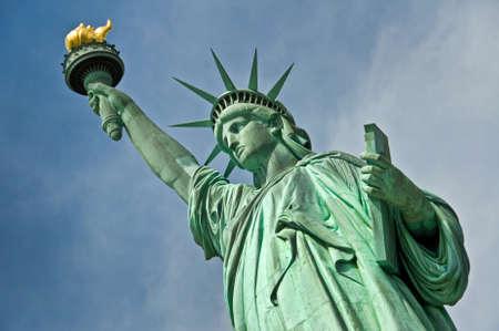 ニューヨーク市、米国の自由の女神像のクローズ アップ 写真素材