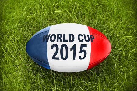 worldcup: Blue white red Rugby ball world cup 2015 Stock Photo