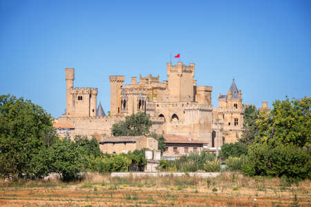 Olite medieval castle in Navarra, Spain Editorial