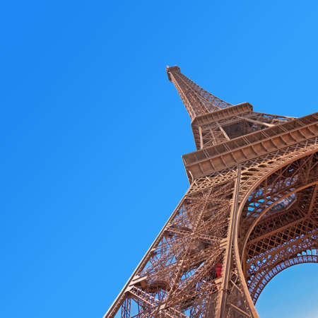 the view from below: Eiffel tower in Paris, view from below
