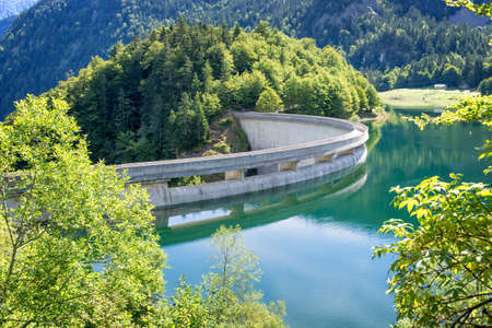 river: Dam on Bious-Artigues lake in the Pyrenees, France Stock Photo