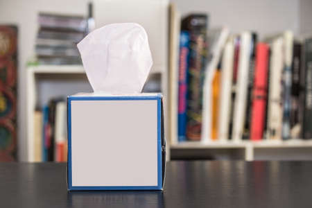 box: Tissue box on a table at home