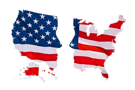 2016 US-Konzept Präsidentschaftswahlen Karte isoliert auf weißem Hintergrund Standard-Bild - 47040357