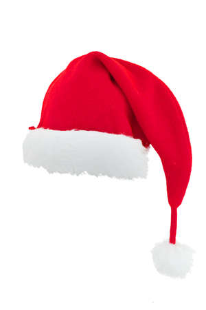 christmas hat: Christmas Santa Claus hat isolated on white background