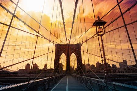De brug van Brooklyn, New York, Verenigde Staten