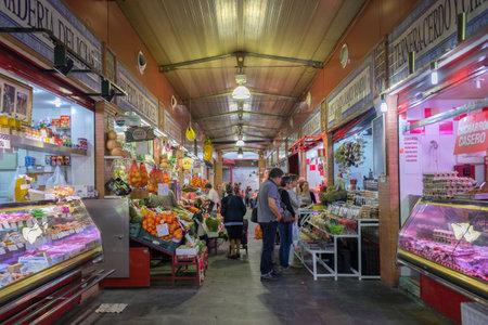 food market: Triana indoor food market in Seville, Spain