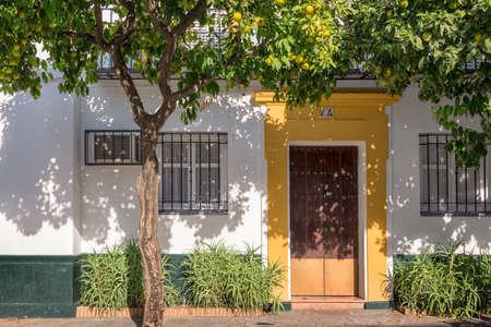 colorido: pintoresca puerta de Sevilla, Andalucía, España