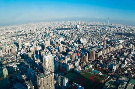 urban landscapes: Aerial view of Tokyo from Ikebukuro district