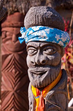 the totem pole: Kanak totem pole, New Caledonia