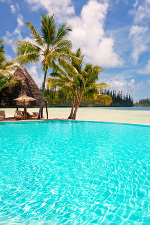 new caledonia: Isle of Pines, New Caledonia, The swimming pool of the Meridien hotel, the most luxurious resort of the island